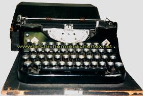 Franz Bardon Schreibmaschine