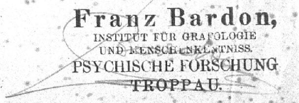 Bardon Unterschrift